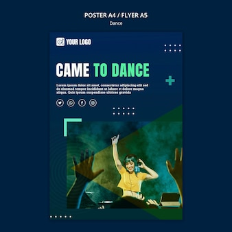 Dance concept flyer template