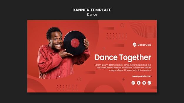 Dance concept horizontal banner