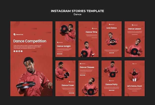 Dance concept instagram stories