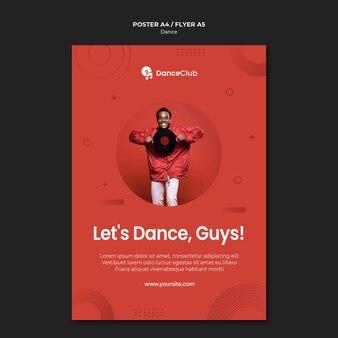 Danza concept design poster Psd Gratuite