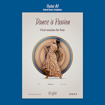 Шаблон плаката танцевальной концепции