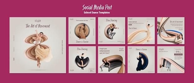 Dance concept social media post