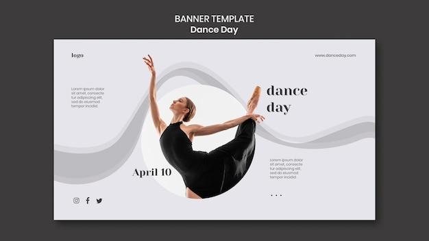 Modello di banner giorno di ballo