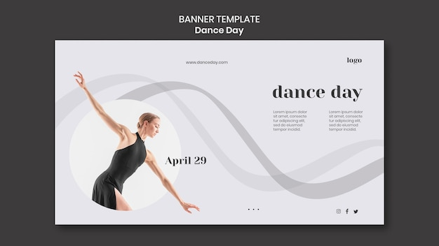 Dance day banner template