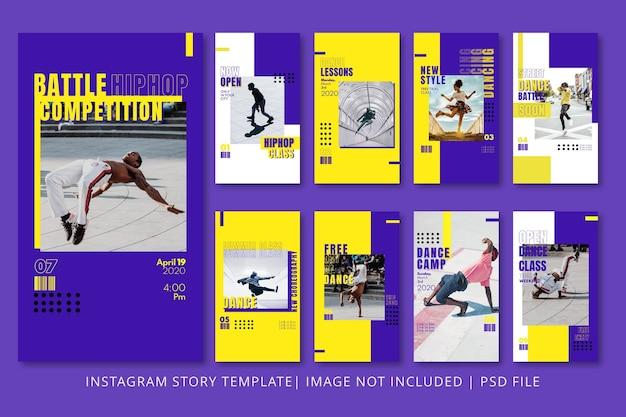Графический шаблон dance instagram stories