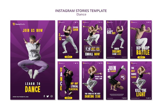 Dance instagram stories template