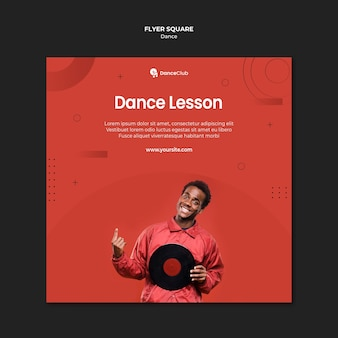 Dance lessons square flyer