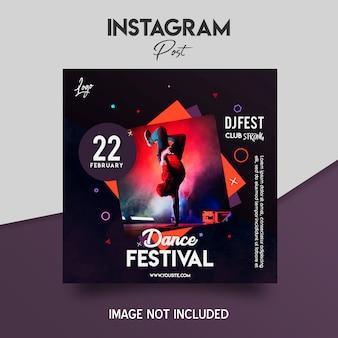 Dance music festival flyer template