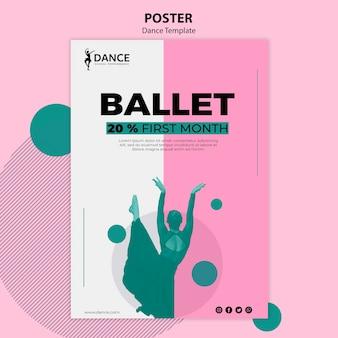 Modello di poster di danza con donna
