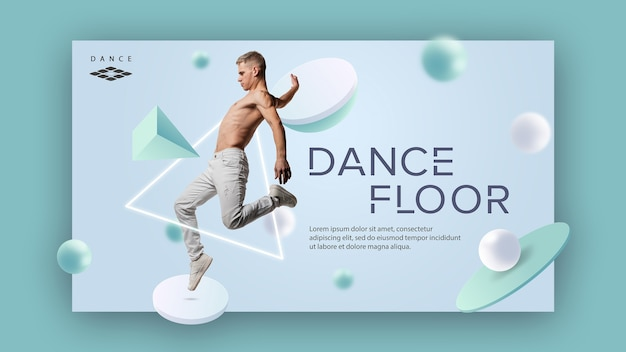 Dance studio banner template Free Psd
