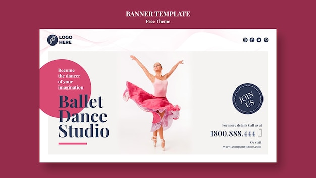 Dance studio banner template