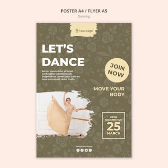 ダンススタジオポスターテンプレート