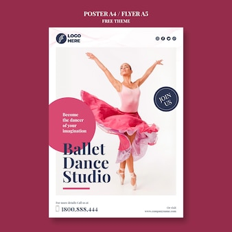 Шаблон плаката танцевальной студии