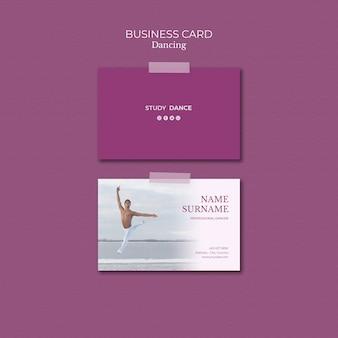 Dancing school business card template