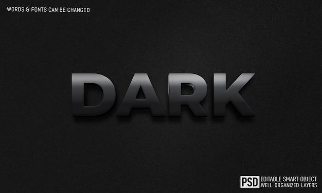 어두운 3d 텍스트 스타일 효과 템플릿