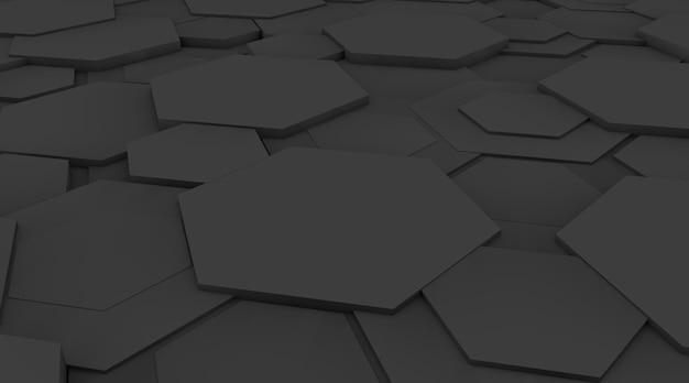 다각형과 어두운 추상 배경