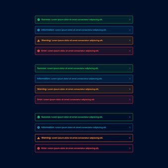 Dark alert web ui element
