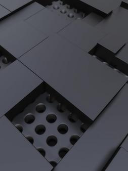 Темный фон геометрических фигур
