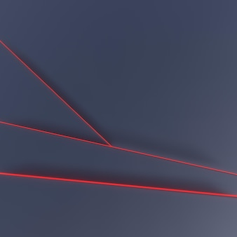 Dark background with red neon lines