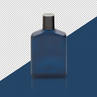 Dark blue perfume bottle mockup