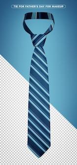 Dark blue tie 3d rendering