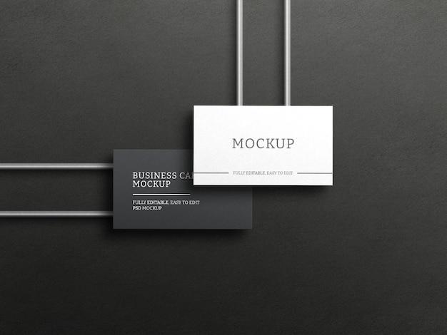 Макет темной визитки