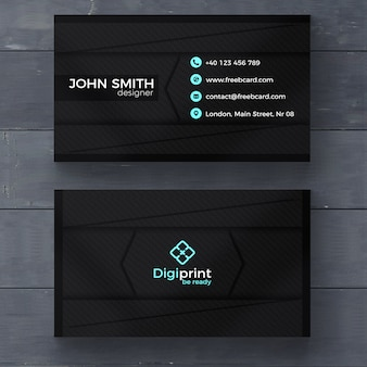 Business card psd template psd file free download dark business card template wajeb Images