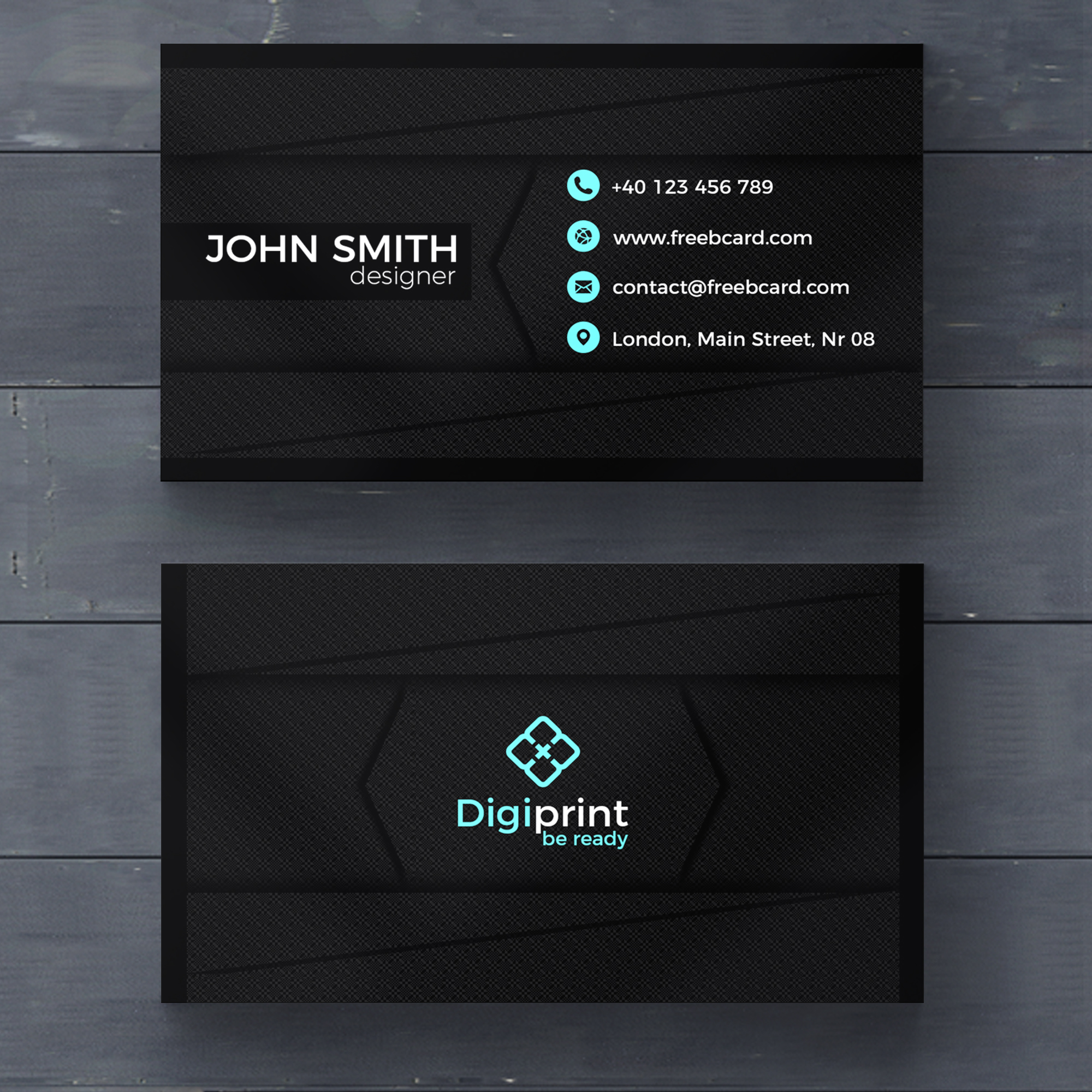 Cards psd 2400 free psd files dark business card template wajeb Image collections