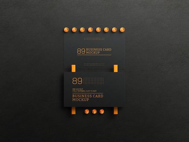 Макет темных визиток