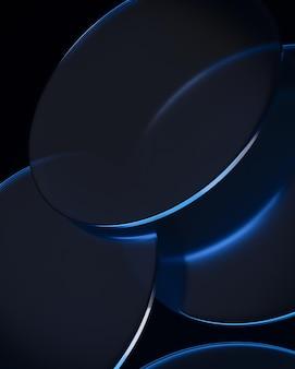 Темные круги с горящим светом