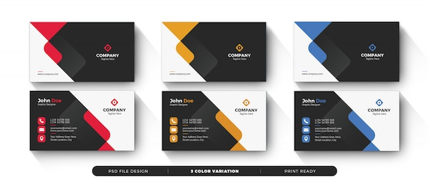 Dark colorfull creative business card