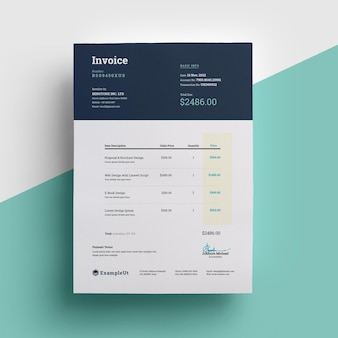 Dark corporate invoice template