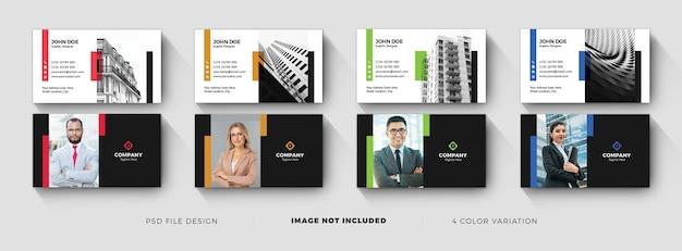 Dark creative business card template