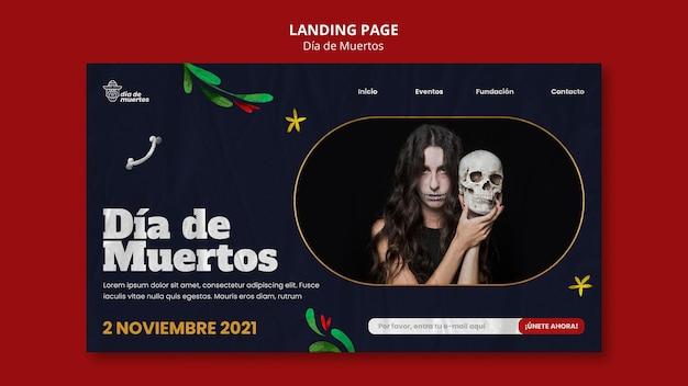 Шаблон целевой страницы dark dia de muertos