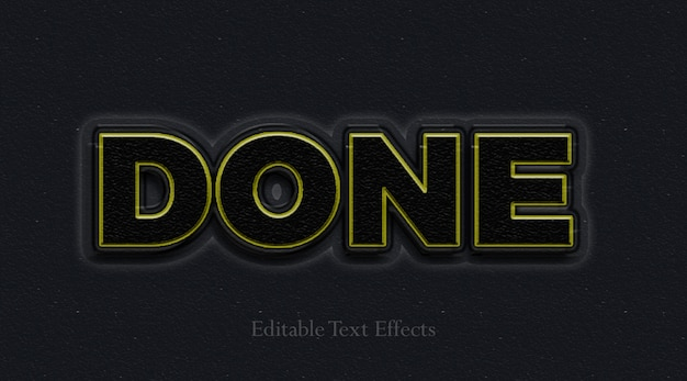Dark and done text effect layer style