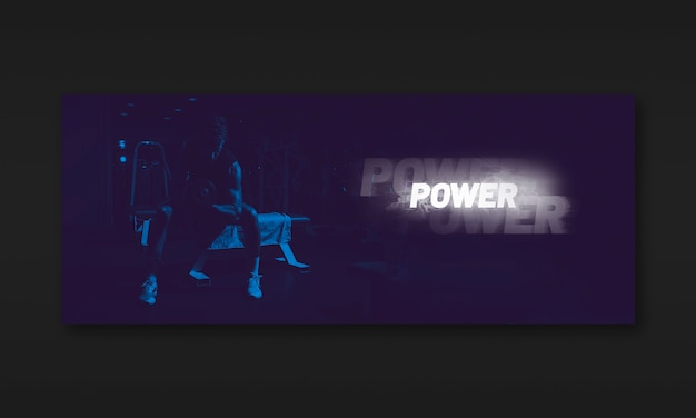 Dark fitness banner mockup