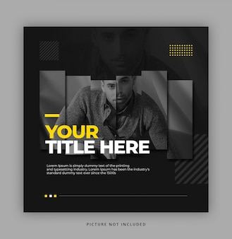 Dark  instagram social media template for fashion product