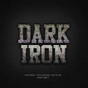 Dark iron 3d font effect