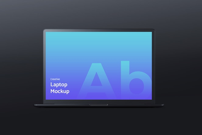 Dark laptop mockup