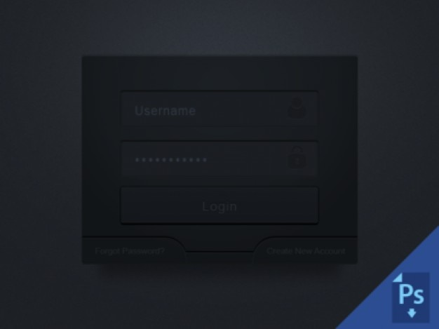 Dark login box