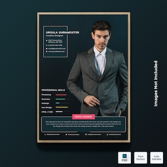 Dark modern resume cv template