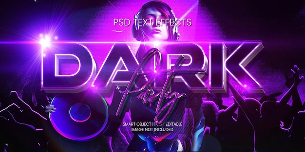 Dark party text effect
