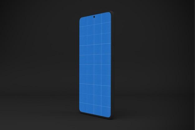Dark smart phone mockup