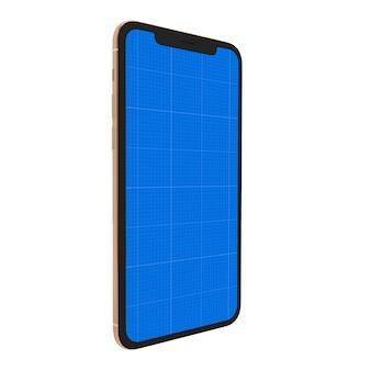 Темный макет смартфона