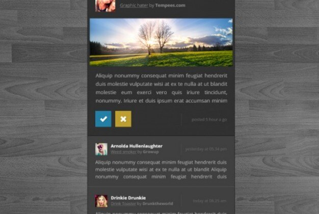Dark status box social media site