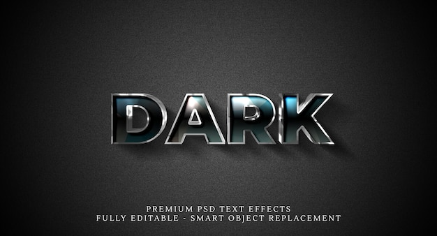 Dark text style effect psd , premium psd text effects