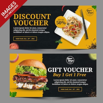 Dark and yellow restaurant food promotion landing page templat