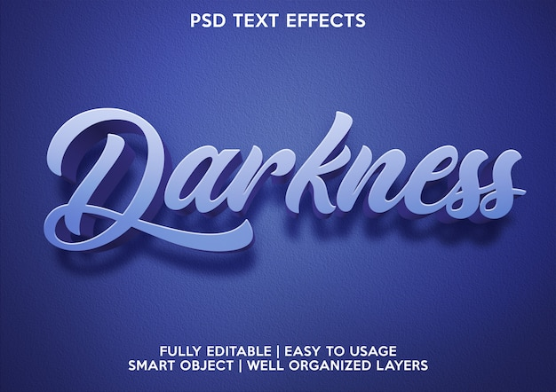 Darkness text effect
