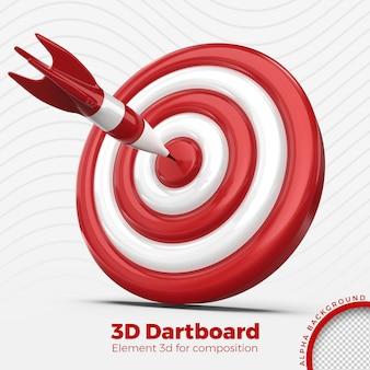 Дартс 3d визуализации изолированные