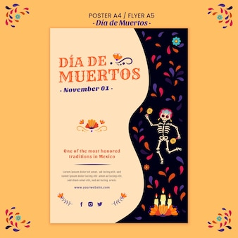 Day of the dead flyer print template